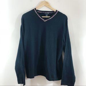 Kenneth Cole Long Sleeve Sweater Black Strech XL